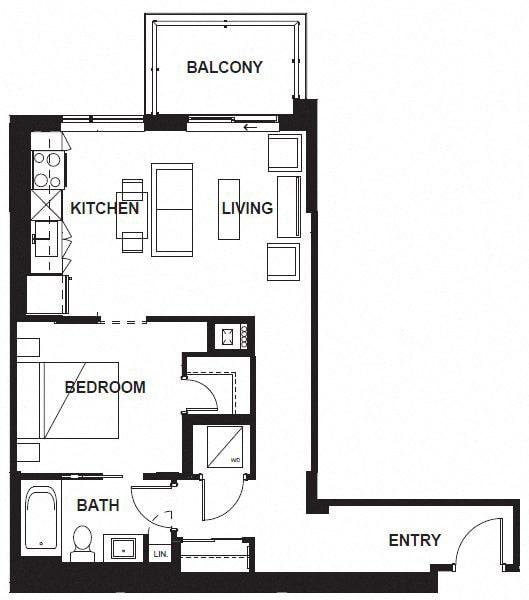 Floor Plan  W-306 -W-X06 FloorPlan at VERSUS, Calgary, AB, T2R 1A8