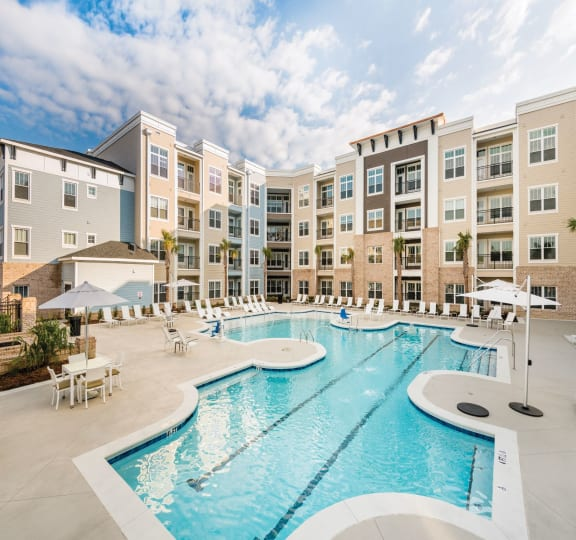 Mini Swimming Pool And Relaxing Area at Central Island Square, Daniel Island, SC, 29492