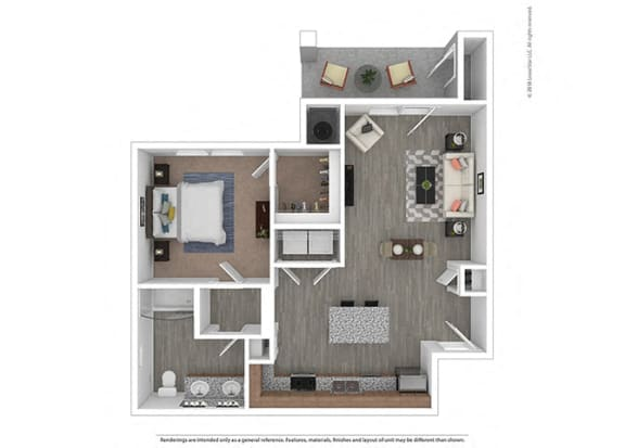 Floor Plan  One bedroom One bathroom at Edgewater at the Cove, Oregon