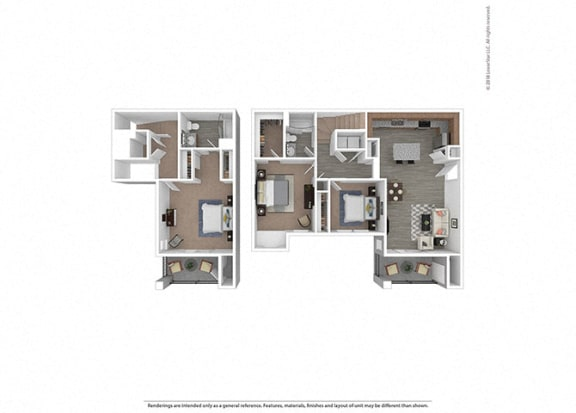 Floor Plan  Three bedroom Two bathroom at Edgewater at the Cove, Oregon, 97045
