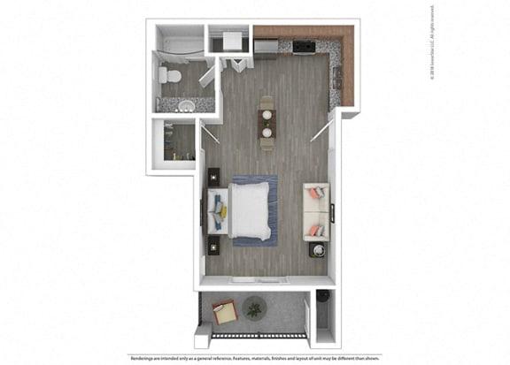 Floor Plan  Studio at Edgewater at the Cove, Oregon City, 97045