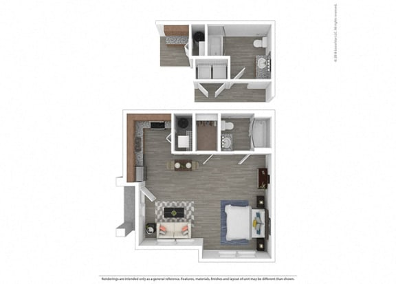Floor Plan  Studio at Edgewater at the Cove, Oregon City, OR