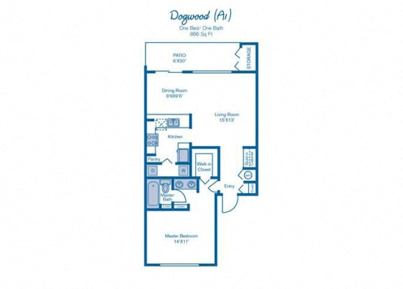 One Bedroom at Pinebrook Pointe, Margate, Florida