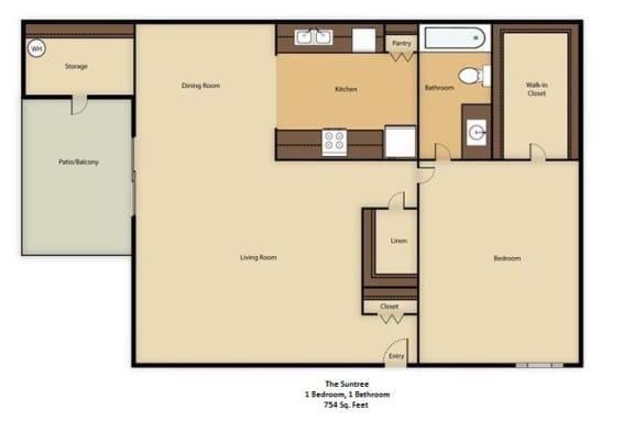 Floor Plan  The Suntree Casita