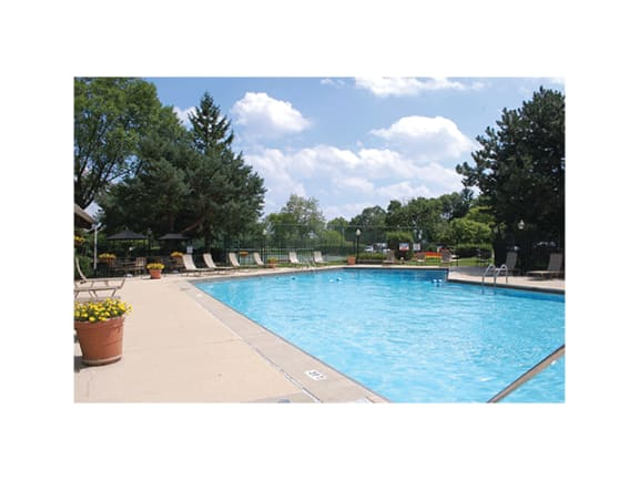Pool Side Relaxing Area at Orion 59, Naperville, Illinois