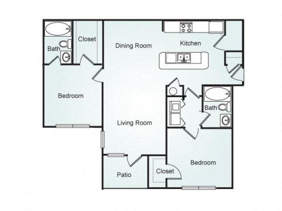 Cameron FloorPlan at Southpoint Crossing, Durham, 27713