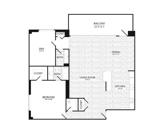 Floor Plan  Apartments for Rent in Crystal City Arlington VA