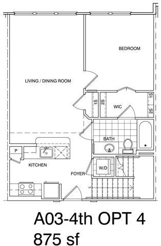 Floor Plan  1 Bedroom + Loft, 1 Bath 875 SF A3L