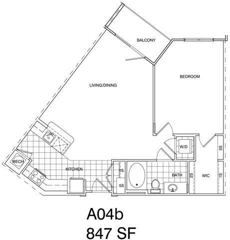 Floor Plan  1 Bedroom, 1 Bath 847 SF A4A