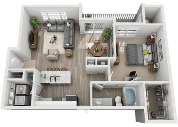 Floor Plan  A4.1ar Floor Plan at Addison Park, Charlotte, NC, 28269