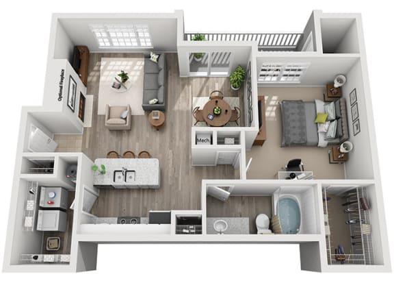 Floor Plan  A5.1a Floor Plan at Addison Park, Charlotte, 28269