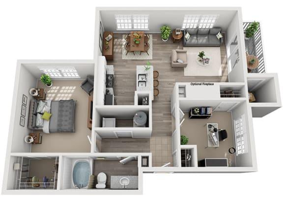 Floor Plan  A6.1a Floor Plan at Addison Park, Charlotte, NC, 28269