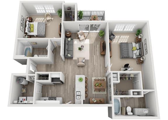 Floor Plan  B3.2a Floor Plan at Addison Park, North Carolina, 28269