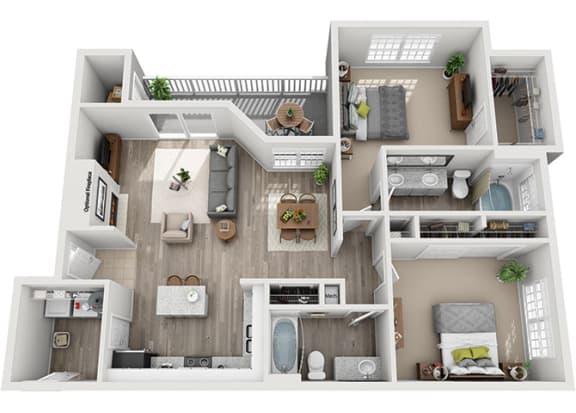 Floor Plan  B5.2a Floor Plan at Addison Park, Charlotte, 28269