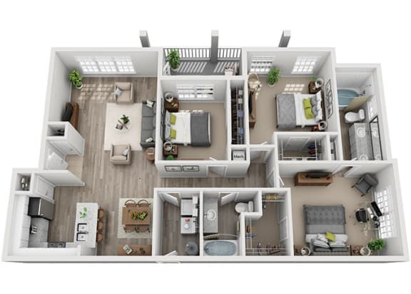 Floor Plan  C1.3ar Floor Plan at Addison Park, North Carolina