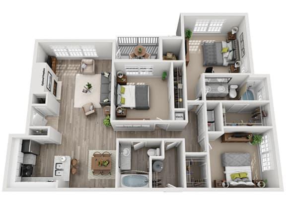 Floor Plan  C2.3ar Floor Plan at Addison Park, Charlotte, NC, 28269