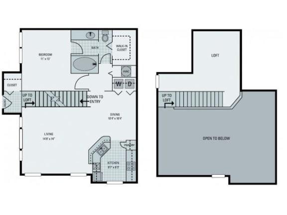 St Croix with Loft Floor Plan  Bay Harbor