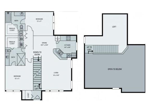 St Lucia with Loft Floor Plan  Bay Harbor