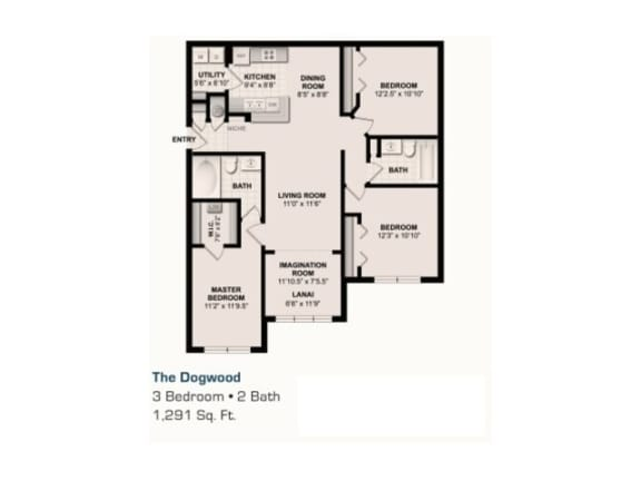 The Dogwood Floor Plan |Grandeville on Saxon