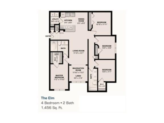 The Elm Floor Plan |Grandeville on Saxon