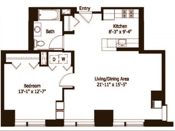 1E Floor Plan |Hartford 21