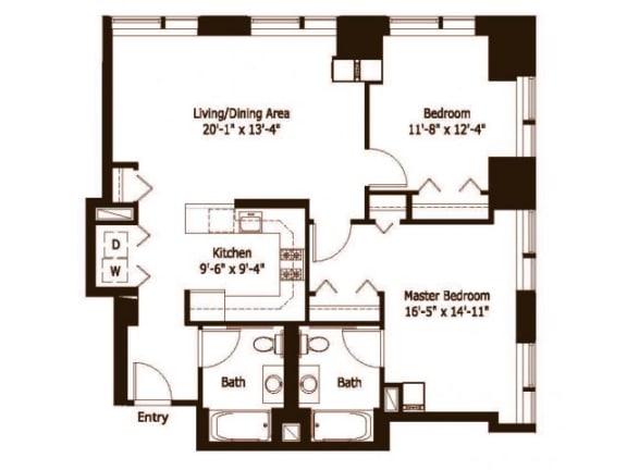 2A Floor Plan |Hartford 21