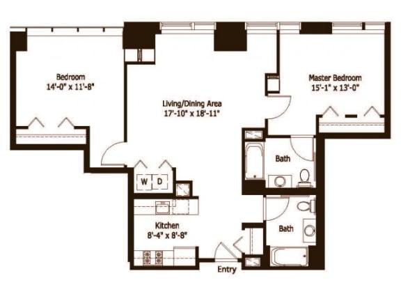 2B Floor Plan |Hartford 21