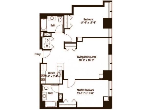 2C Floor Plan |Hartford 21