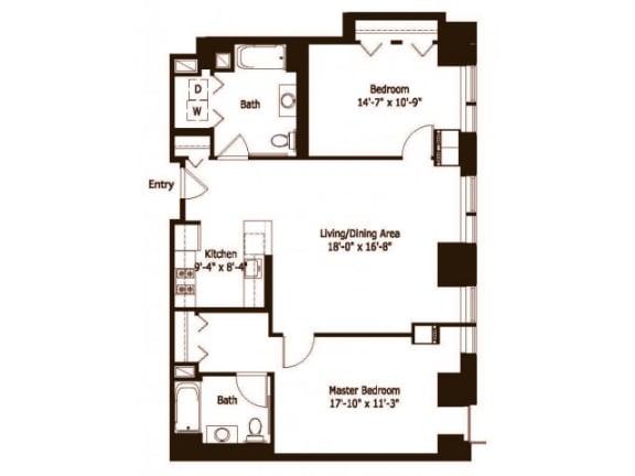 2D Floor Plan |Hartford 21