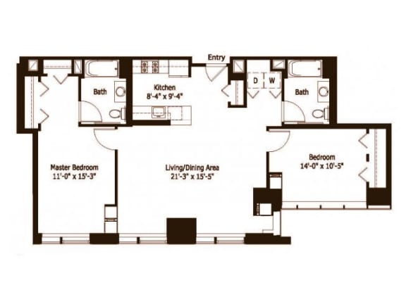 2E Floor Plan |Hartford 21