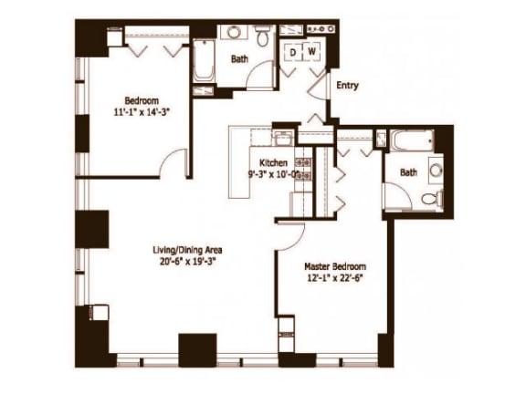 2H Floor Plan |Hartford 21