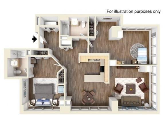 2K Floor Plan |Hartford 21