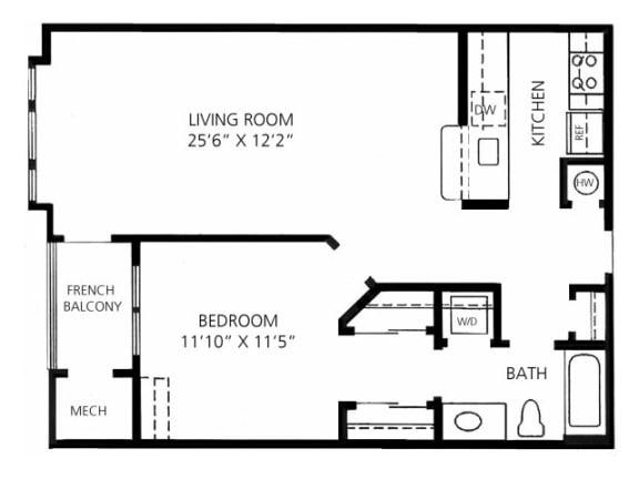 A-2 794 Floor Plan |Faxon Woods