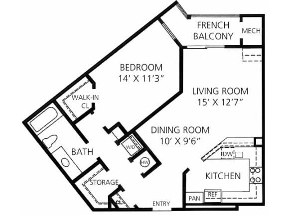 A-4 853 Floor Plan  Faxon Woods