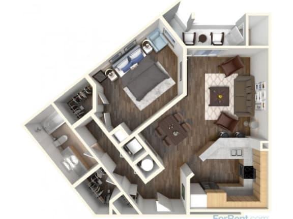 Floor Plan  A-4 853 Floor Plan  Faxon Woods