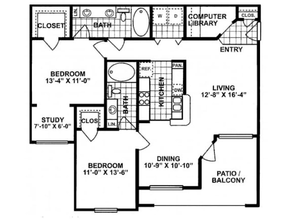 Floor Plan  2X2 D Floor Plan| Lodges at Lakeline Village