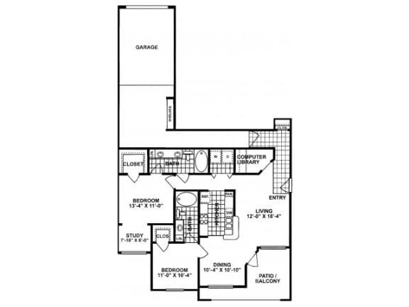 2X2E Floor Plan  Lodges at Lakeline Village