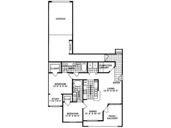 2X2E-SILVERPACKAGE Floor Plan  Lodges at Lakeline Village