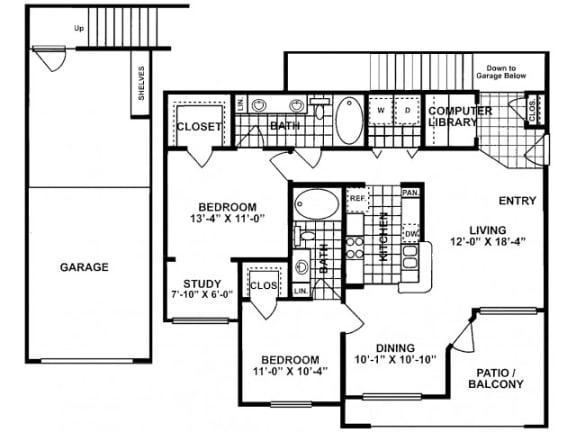 2X2F-SILVERPACKAGE Floor Plan  Lodges at Lakeline Village