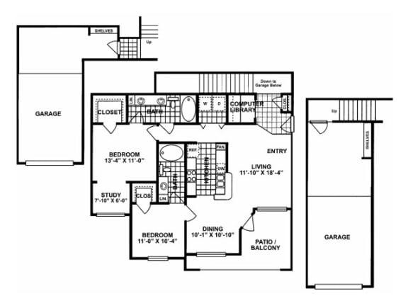 2X2G Floor Plan  Lodges at Lakeline Village