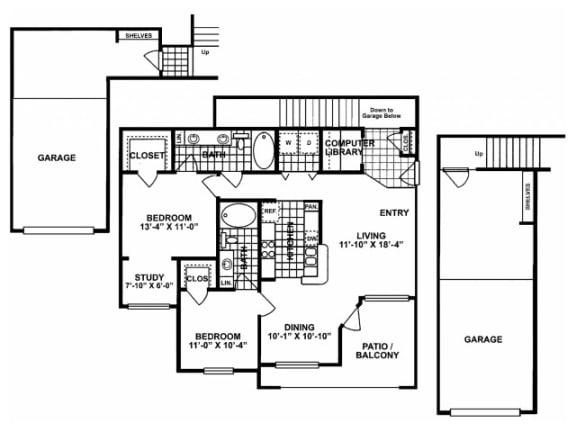 2X2G-SILVERPACKAGE Floor Plan  Lodges at Lakeline Village
