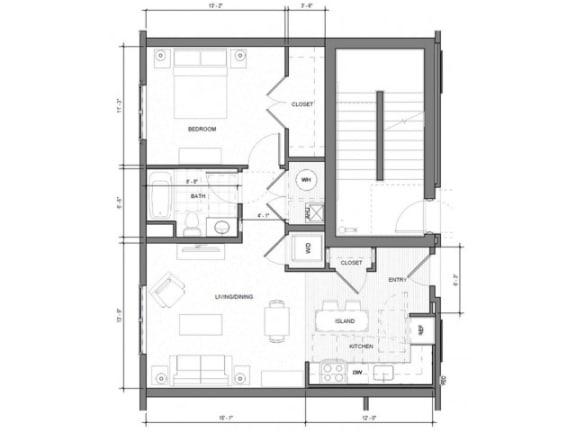 Floor Plan  1BR F Floor Plan| Merc