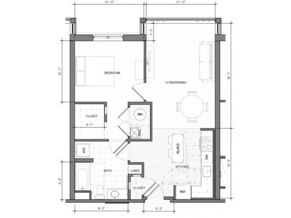 Floor Plan  1BR Standard Floor Plan| Merc