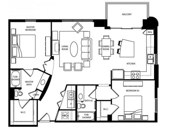 Abbey Platinum Floor Plan | The Paramount