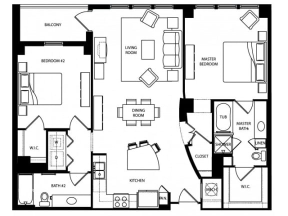 Kent Floor Plan | The Paramount