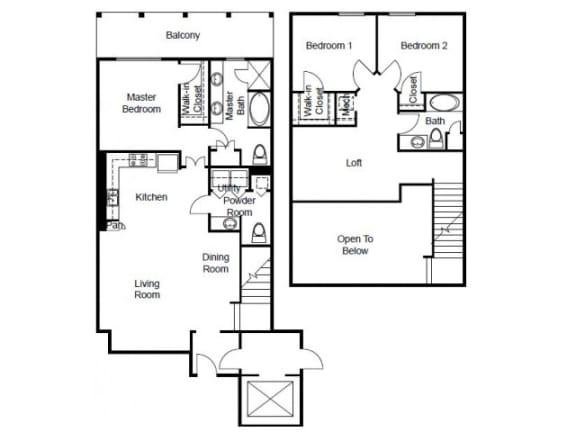 Villas Platinum Floor Plan   The Paramount