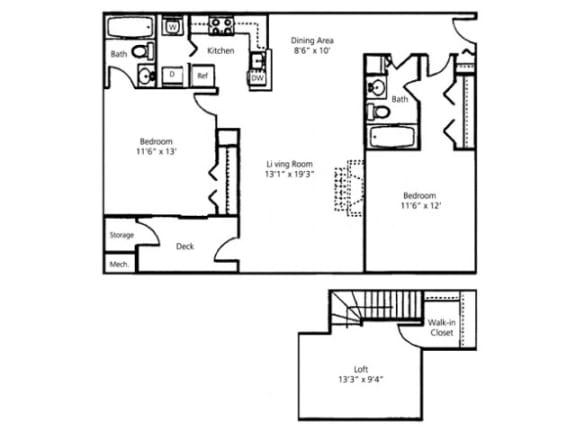 Floor Plan  Ashwood Loft Floor Plan |Paramount on Lake Eola