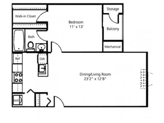 The Linden Floor Plan |Pavilions