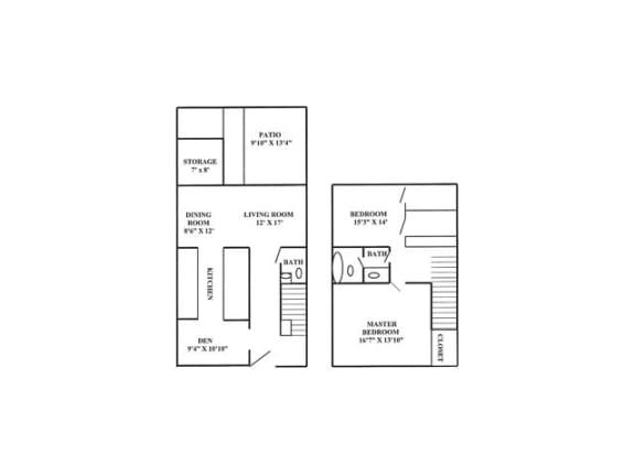 2x1 Floorplan | Randolph Park