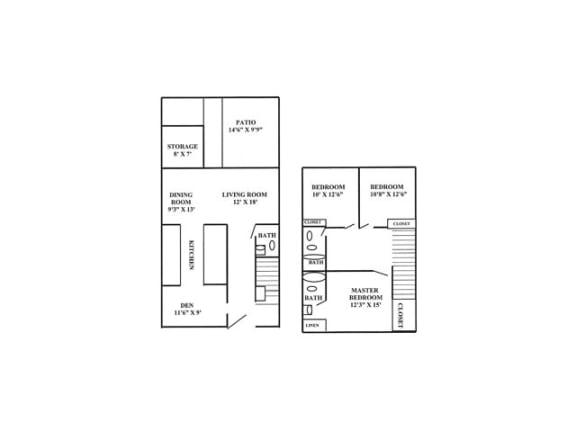 3X2 Floor Plan | Randolph Park